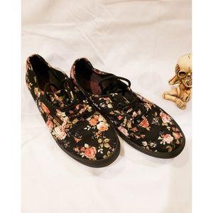 Van's black Rose Shoes